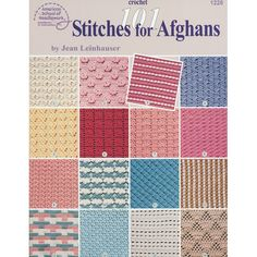 101 Stitches for Afghans - More afghans are crocheted each year than any other crochet project. Afghans are fun to make, cozy to use, & make wonderful gifts. The stitch patterns in this book are carefully chosen them so that they're not too open (who wants to catch a toe in an afghan?), not too difficult, & not too time-consuming. This book is a reference tool you'll use for years. Available at MaggiesCrochet.com