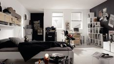 White-and-Black-Punk-Rock-Music-Theme-plus-Full-Music-Accessories-for-Teen-Girls-Bedroom-Ideas.jpg 1,214×679 pixels