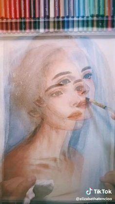 Watercolor Portrait Tutorial, Watercolor Art Face, Watercolor Paintings For Beginners, Watercolor Portraits, Watercolor Illustration, Simple Watercolor, Watercolor Trees, Tattoo Watercolor, Watercolor Animals