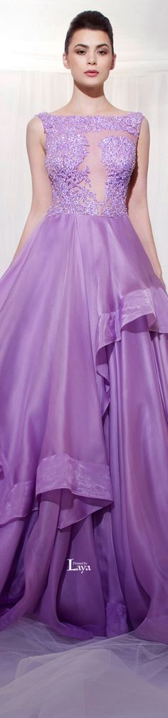 TAREK SINNO Haute Couture for Spring/Summer 2014 - I wish i was a fairy princess so I could wear beautiful dresses every day :P Color Lila, Evening Dresses, Formal Dresses, Mode Chic, Purple Fashion, Glamour, Purple Dress, Purple Gowns, Shades Of Purple