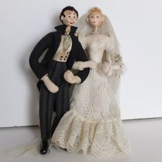 Vintage Roldan Klumpe Wedding Bride and Groom by FadedVintageRose