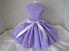 Dog Dress  XS   Lavender with Polkadots   By by NinasCoutureCloset, $30.00