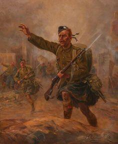 Jock, Black Watch Soldier Climbing a Hill