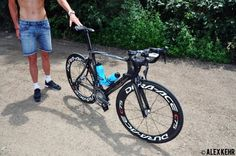 Kris Gemmell's bike he will be riding at the London Olympic Games
