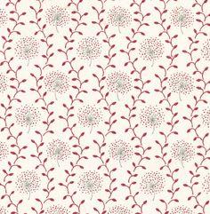 Dandelion Trellis - Cranberry and Stone | Vanessa Arbuthnott
