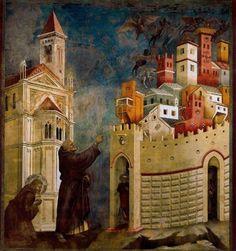 """Giotto di Bondone  """"La expulsión de los demonios de Arezzo"""""""