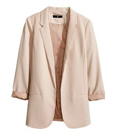 Gently tailored jacket with narrow lapels, welt pockets at the front and no buttons. Lined. @ H&M