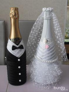 свадебная бутылка екоративная - Recherche Google