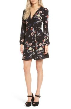 ASTR Floral Print Wrap Dress available at #Nordstrom