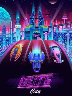 Mute City - F-Zero by Josue Martinez