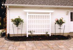 New England Arbors Decorative Garden Flower Plant White Vinyl MILAN TRELLIS
