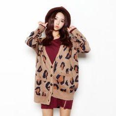 BBon-J Leopard Print Sweater | YesStyle I Knitwear | Pinterest ...