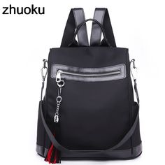 Aliexpress.com   Buy Women Casual Backpack Waterproof Nylon School Bags  Students Female Travel Knapsack Bags Shoulder Rucksack Bag for Teenager  Girls from ... be6cc8b9f5