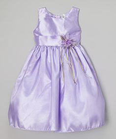Love this Lilac Satin Dress - Infant, Toddler & Girls on #zulily! #zulilyfinds