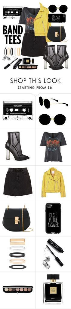 """Rock N ROLL"" by guiadestylo ❤ liked on Polyvore featuring Miu Miu, Steve Madden, Topshop, MANGO, Chloé, Casetify, Accessorize, Bobbi Brown Cosmetics, Marc Jacobs and Avon"