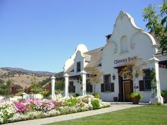 Chimney Rock Winery on Silverado Trail, Napa Valley, features Cape Dutch Colonial architecture often found in South Africa