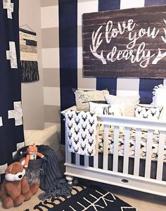 How cute is this Love You Dearly Antler Vinyl Decal? This vinyl decal is a great way to add the popular woodlands theme to your nursery for boy or girl. We love this saying above the crib on a popular
