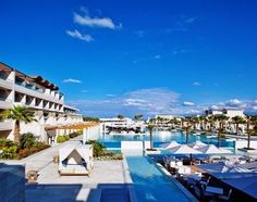 Hotel Avra Imperial Beach Reosrt & Spa,Creta, Grecia Imperial Hotel, Imperial Beach, Villas, Beautiful Hotels, Resort Spa, Beach Resorts, Photo Galleries, Mansions, House Styles