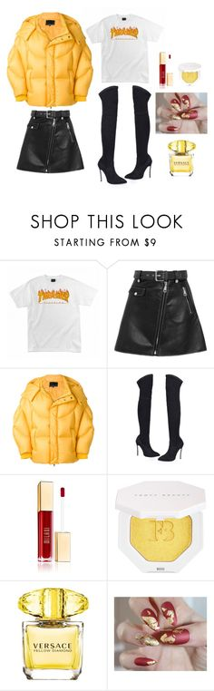 """""""Throphy Wife"""" by simplyjazmyn on Polyvore featuring Maje, Chen Peng, Puma and Versace"""