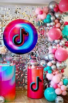 Girls Birthday Party Themes, 13th Birthday Parties, Birthday Party Tables, Girl Birthday, Birthday Ideas, Dessert Table Decor, Pink Balloons, Family Birthdays, Party Supplies
