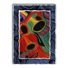$505 Horns of Jazz Abstract Art