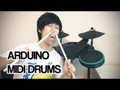 Arduino MIDI Drums | Rock Band Guitar Hero Mod - YouTube