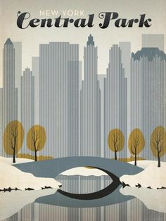 Joel Anderson retro posters New York Central Park