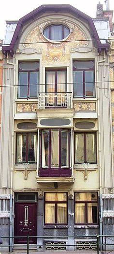 Belgian architect Paul Cauchie, Art Nouveau house, Etterbeeck suburb, Brussels, Belgium