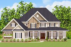 Five Bedroom Traditional With Wrap-Around Porch - 46298LA | Architectural Designs - House Plans