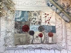 Fabric Books, Fabric Journals, Art Journals, Textile Fiber Art, Fibre Art, French Knots, Journal Covers, Boro, Junk Journal