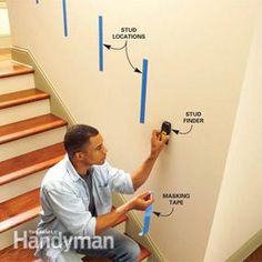 If you have a loose stair rail, a weak stair rail or no rail at all, fix the problem by installing a solidly anchored railing at the proper handrail height. Attic Playroom, Attic Rooms, Attic Spaces, Attic Bathroom, Attic Library, Garage Attic, Attic House, Attic Office, Attic Closet