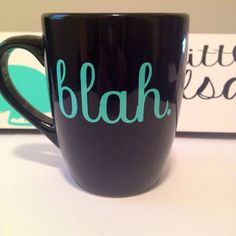 Blah. coffee mug