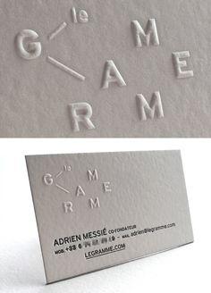 Print : Badcass - Design : Valentine Petit Morin - Carte de visite en letterpress - #gaufrage #débossage