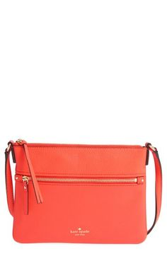 kate spade new york 'cobble hill - gabriele' pebbled leather crossbody bag available at #Nordstrom