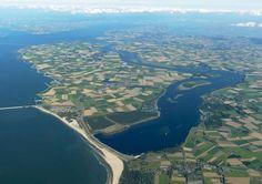 Noord-Beveland # Zeeland # Luchtfoto # Kleinste eiland Zeeland