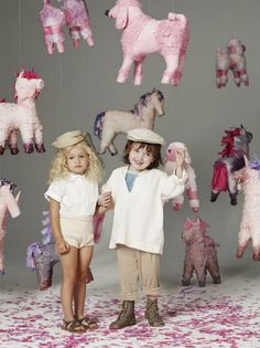 kids and pinatas, what more would you need for a party? -- Ortega - ortega.com #pinatas #cutekids #toofun