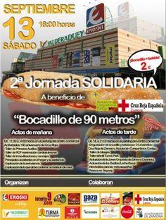 Cartel anunciador del bocadillo solidario.