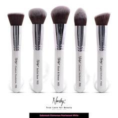 Look what I found at Nanshy.com  Gobsmack Glamorous Pearlescent White   Face Makeup Brush Set #nanshy #makeupbrushes