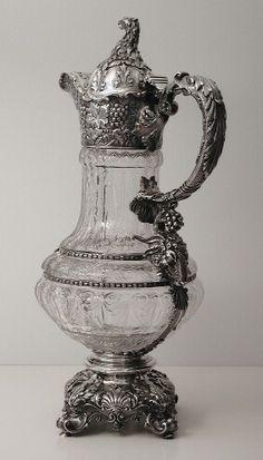 World class Gorham silver mounted pitcher 1893