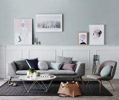 Norsu Interiors 2016 Scandinavian Style Living Room with Dark Teal Walls on The Life Creative