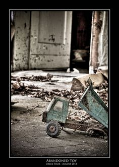 In no way spooky... :-0  Abandoned toy by anvosa, via Flickr