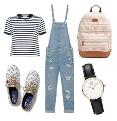 """""""Back to school - 2"""" by michaelalove3 on Polyvore featuring True Religion, Miss Selfridge, Rip Curl, Keds and Daniel Wellington"""