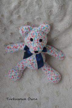 crochet, teddy bear, szydełko, miś, zabawki, prezent, dzieci, turkusowa owca, miś na szydełku,