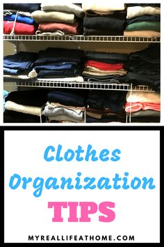 How to Fold Clothes - This is how I fold my clothes to get then to fit neatly in my drawer. And bonus, I can see everything! #howto #clothesorganization #howtofoldclothes #konmari #howtofoldclotheskonmari #clothesstorage #organizinghacks #ortganizecloset #organizedrawers Closet Storage Systems, Closet Organization, Clothing Organization, Organization Ideas, Wooden Closet, Clothes Basket, Konmari Method, Organizing Your Home, Organizing Tips