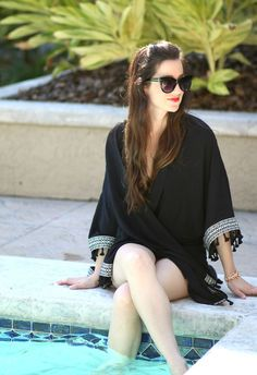 This black H&M Loves Coachella kimono is the perfect pool or beach cover-up. Plus, there's tassels.