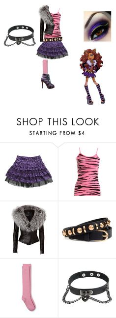 """""""Clawdeen"""" by ami-kesinger on Polyvore featuring Wet Seal, Jitrois, H&M, Merona, Christian Louboutin and Giuseppe Zanotti"""