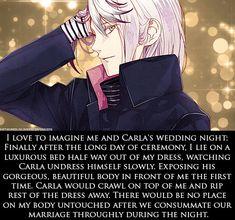 Dirty Mind Quotes, Cute Manga Girl, Romantic Manga, Bottle Candles, Animes Yandere, Diabolik Lovers, Seven Deadly Sins, Wedding Night, Greed