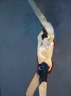 Keith Vaughan, Standing Figure - Blue Background, oil on canvas, 1963