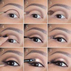 hooded-eyes-makeup-cut-crease. Open your hooded eyes. Www.eastcoastbeautyqueens.com #hoodedeyemakeup #cutcreasemakeup