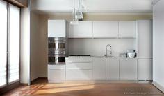 Modern White Kitchen Cabinets #49 (Kitchen-Design-Ideas.org)